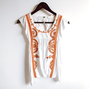 Free People Dos Segundos Embroidered Top